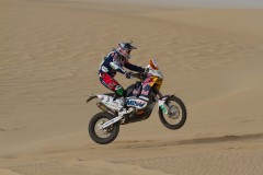 Spaniard Marc Coma won the first desert stage of the Sealine Cross-Country Rally on his KTM..jpg