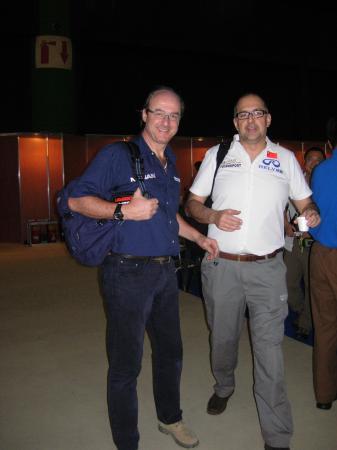 Maurizio Traglio con il team manager, Giuliano Air