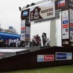 Alex Zanotti sul podio di partenza