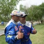 I vincitori: Carlos Sainz e Lucas Cruz